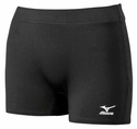 Mizuno Flat Front Spandex Shorts - in 2 Colors