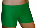 "Kelly Green 2.5"" inseam Spandex Shorts w/ UV sunblock"