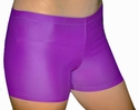 "Purple 2.5"" inseam Spandex Shorts w/ UV sunblock"