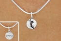 Girl Serving / Volleyball Player Silver Necklace