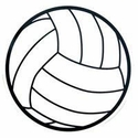 "Large 5-3/4"" Volleyball Magnet w/ Thin Lines"