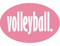 Pink Oval Volleyball Word Magnet
