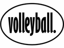 Volleyball Word Oval Magnet