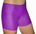 "Purple 4"" inseam Spandex Shorts w/ UV sunblock"