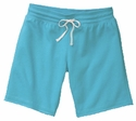 Turquoise Blue Volleyball Rear Imprint Fleece Bermuda Short