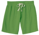 Green Volleyball Rear Imprint Fleece Bermuda Short