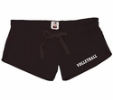 Black Volleyball Leg Imprint Fleece Chrissy Short