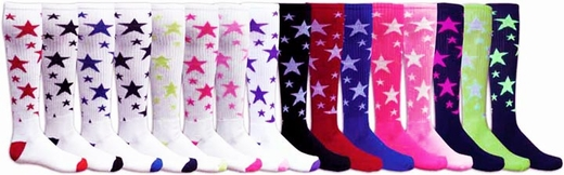 Star Knee High Socks - in 20 Colors
