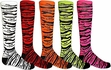 Zebra / Tiger Stripe Knee High Socks - in 14 Colors