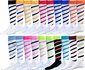 Candy Stripe Cyclone Knee High Socks - in 25 Colors