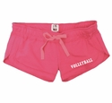 Pink Volleyball Leg Imprint Fleece Chrissy Short