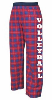 Youth Flannel Pajama Pants - Choice of 22 Sport Imprints on Leg - in many Plaid Colors