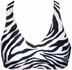 Zebra Stripe fitted Sports Bra