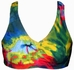 Colorful Tie-Dye fitted Sports Bra