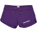 Purple Volleyball Leg Imprint Fleece Chrissy Short