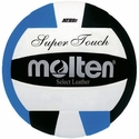Molten Black-Blue-White Super Touch Volleyball w/ H.S. Stamp