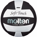 Molten Black-White Soft Touch Volleyball w/ H.S. Stamp