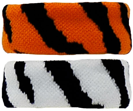 Wild Tiger Zebra Stripe Terry Cloth Bracelet Wristband