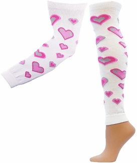 Pink Hearts Leg / Arm Warmers � in 2 Sizes