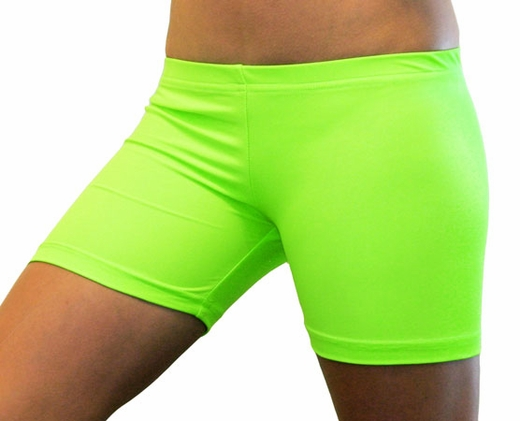 Available In Black And Neon Green Active Shorts Elastic Waistband Sports Illustrated Brand 87% Nylon; 13% Spandex.
