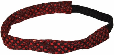 Maroon Sequin Glitter Headbands