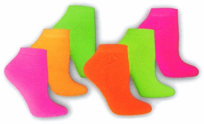 Neon Footie Socks - in 5 Colors