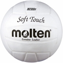 Molten White Soft Touch Volleyball w/ H.S. Stamp