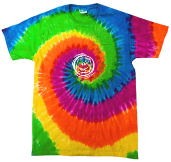 Smiley Face Volleyball Tie-Dye Tee - in 15 Colors
