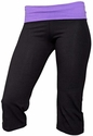 Purple Waist Yoga Capris - Choice of 22 Sport Imprints on Rear or Leg