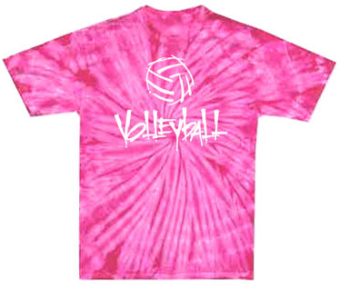 abstract volleyball design tie dye tee in 15 shirt colors volleyball t shirt design ideas - Volleyball T Shirt Design Ideas
