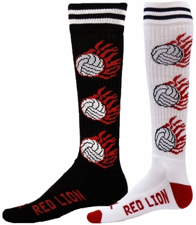 Flaming Volleyball Knee High Socks - in 2 Colors
