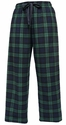 Blackwatch Flannel Tie-Cord Pants - Choice of 22 Sport Imprints on Leg or Rear