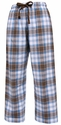 Brown / Baby Blue Flannel Tie-Cord Pants - Choice of 22 Sport Imprints on Leg or Rear