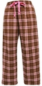 Brown / Pink Flannel Tie-Cord Pants - Choice of 22 Sport Imprints on Leg or Rear