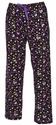 Colorful Enchanted Hearts Print Flannel Pants - Choice of 22 Sport Imprints - Leg or Rear