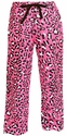 Hot Pink Leopard Print Flannel Pants - Choice of 22 Sport Imprints - Leg or Rear