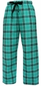 Teal / Black Flannel Tie-Cord Pants - Choice of 22 Sport Imprints on Leg or Rear
