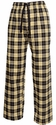 Vegas Gold / Black Flannel Tie-Cord Pants - Choice of 22 Sport Imprints on Leg or Rear