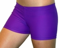 "Neon Purple 2.5"" inseam Spandex Shorts"