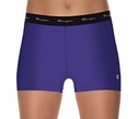 Champion Double Dry Fitted Women's Hula Blue Hot Shorts