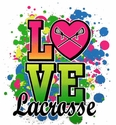 Love Lacrosse Neon Paint Short Sleeve T-Shirt - in 27 Shirt Colors
