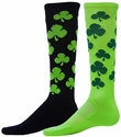 Lucky Shamrock Zany Knee-High Socks - in 2 Colors