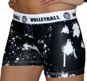 White Volleyball Splat Flip Band Spandex