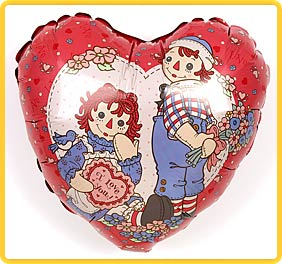 Raggedy Ann & Andy Heart Balloon