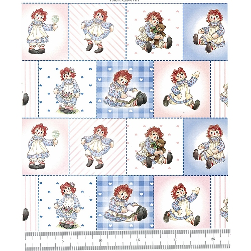Raggedy Ann Set Patch Fabric by Spectrix   **Only ONE yard available**