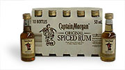 Captain Morgan Spiced Rum 50ml. ~  10 pack