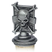 Pewter Bottle Stopper - Skull & Crossbones