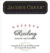 Jacobs Creek Riesling 2009