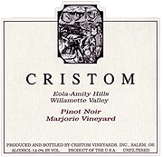 Cristom Vineyards Pinot Noir Marjorie Vineyard 2009
