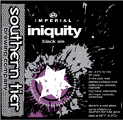 Southern Tier Brewery Imperial Iniquity Black Ale 22oz.